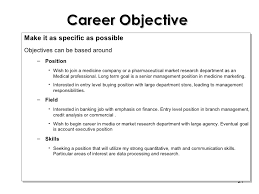 Job Objective In A Resume by Cv Writing Workshop