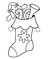 kids christmas stocking coloring pages christmas coloring pages