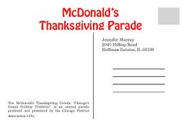 mcdonald s thanksgiving parade postcard on behance
