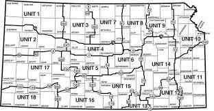 kansas walk in map kansas deer management unit map maps regulations