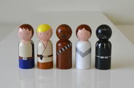 Star Wars Room Decor Etsy by Star Wars Peg Doll Set 30 00 Via Etsy Getting Crafty