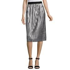 pleated skirt project runway metallic pleated skirt jcpenney