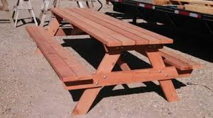 Plans For Picnic Table With Detached Benches by 16 Beautiful Garden Picnic Bench Tables And Designs Planted Well