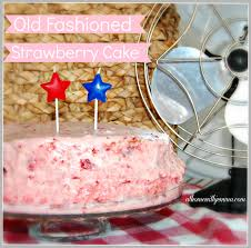 old fashioned strawberry cake at home with jemma