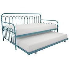 amazon com dhp manila metal framed daybed with trundle twin