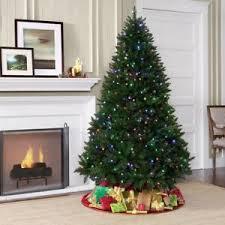 pre lit 6 big artificial pine tree multi color led
