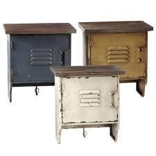 vintage metal and wood locker wall shelf 11 5 8 in 124058 midwest