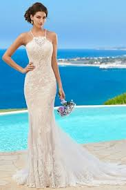 fitted wedding dresses trumpet mermaid halter sequin lace chapel sleeveless fitted