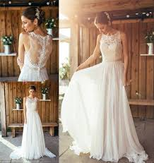Boho Wedding Dresses Aliexpress Com Buy 2017 Summer Boho Wedding Dress A Line Crew