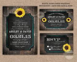 digital save the date western sunflower wood wedding invitation save the date rsvp