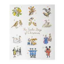 national trust 12 days of cards pack of 10 from