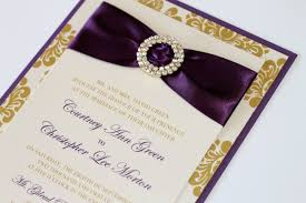 purple and gold wedding invitations damask wedding invitation embellished wedding