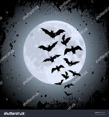 blue halloween background halloween background moon bats stock vector 62162797 shutterstock