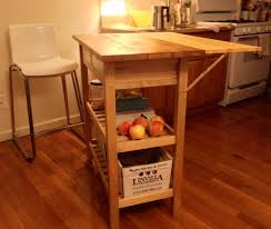 kitchen cart with drop leaf extension ikea hackers decor ideas