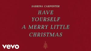 sabrina carpenter yourself a merry audio