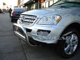t 304 98 05 benz ml class w163 bull bar w pl front bumper