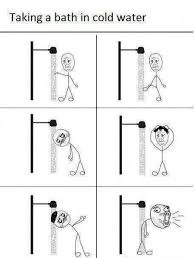 Shower Meme - taking a shower in cold water meme rage comic