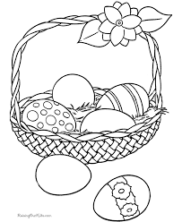 free easter basket coloring printables children