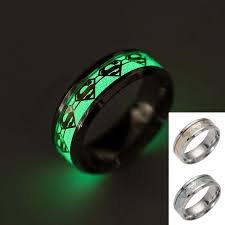 superman wedding band superman ring stainless steel fluorescent glowing light finger