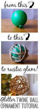 glitter twine ornament tutorial the thinking closet