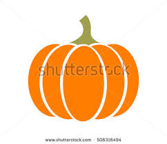 pumpkin squash thanksgiving flat color stock vector