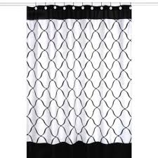 Skull And Crossbones Shower Curtain Buy Black And White Shower Curtains From Bed Bath U0026 Beyond