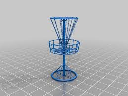 disc golf basket by twobadcatsllc thingiverse
