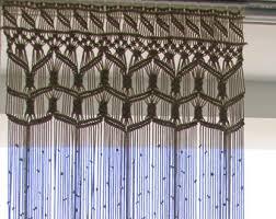 cortina de macrame grande personalizado hecho con cuerda de