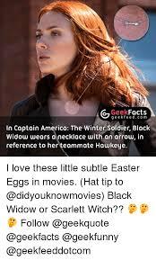 Black Widow Meme - g geek facts g e e fe in captain america the winter soldier black
