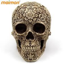 aliexpress buy delicate flower skull ornaments horror resin