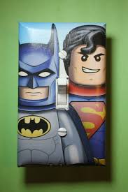 Superman Room Decor by Lego Batman And Superman Superhero Light Switch Plate Cover Comic