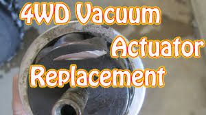 diy how to replace a 4wd vacuum actuator on a chevy blazer gmc