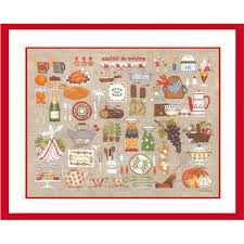 broderie cuisine kit broderie point de croix atelier cuisine le bonheur des 2684