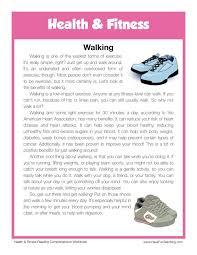 reading comprehension worksheet walking english teaching