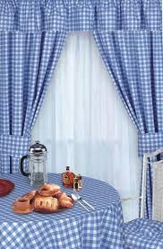 Blue Kitchen Curtains by Country Plaid Curtains Cheap Home Design Ideas