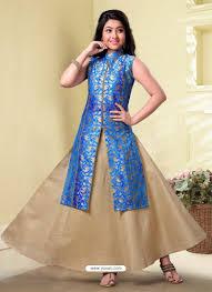 silk skirt buy blue and beige silk skirt kameez lehenga choli for