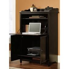 prepac black desk with shelves behw 0200 1 the home depot