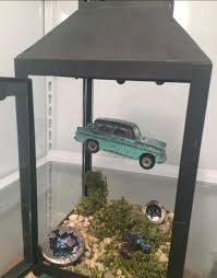Harry Potter Decor by Guys My Dad Made Me This Tiny Scene Of The Flying Car From Harry