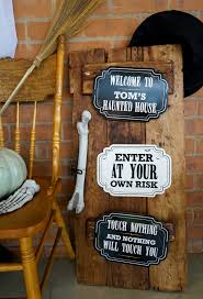 halloween haunted house welcome directional signage for kids