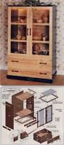 Woodworking Plans For Furniture Free by Curio Cabinet Curiobinet Plans And Patterns For Free Corner