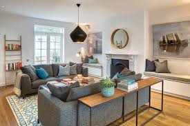 living room seating for transitional living room with bench