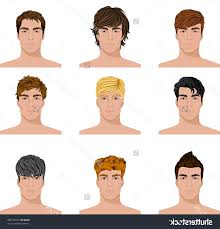 names of different haircuts different hairstyles for men with names set of close up different