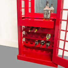 Furniture Wine Bar Cabinet Red British Phone Booth Wood Wine Bar Cabinet Old Cast Iron Style
