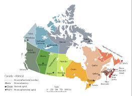 capital of canada map canada political map