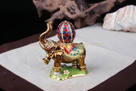 asian elephant ring holder images Elephant jeweled trinket box elephant box with faberge egg on back jpg