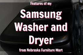nebraska furniture mart black friday 2017 my laundry room before and after and new samsung washer dryer set