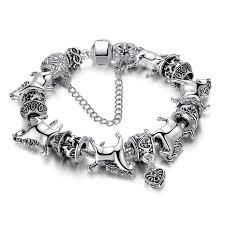 vintage silver bracelet charms images Silver vintage horse charm bracelets mystical and exotic creatures jpg