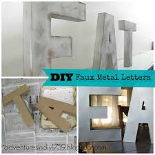 adventures in diy faux metal letters