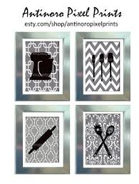 black and white prints for kitchen black white greys unframed kitchen utensils tool collection set includes 4 8x10 prints antinoro pixel prints