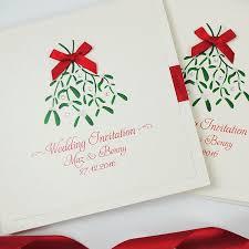 christmas wedding invitations christmas handmade wedding invitations with mistletoe